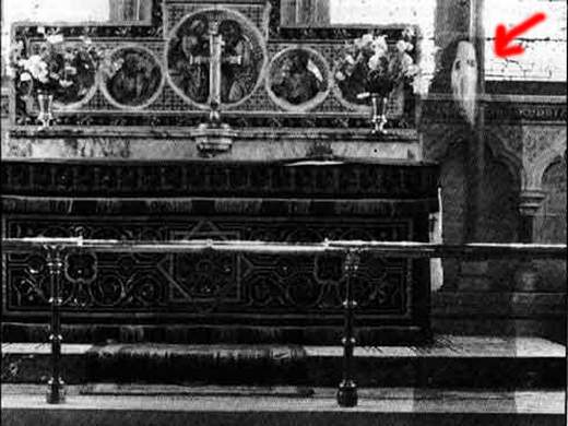 10 Most Famous Ghost Pictures and Their Story -  Monk In Church