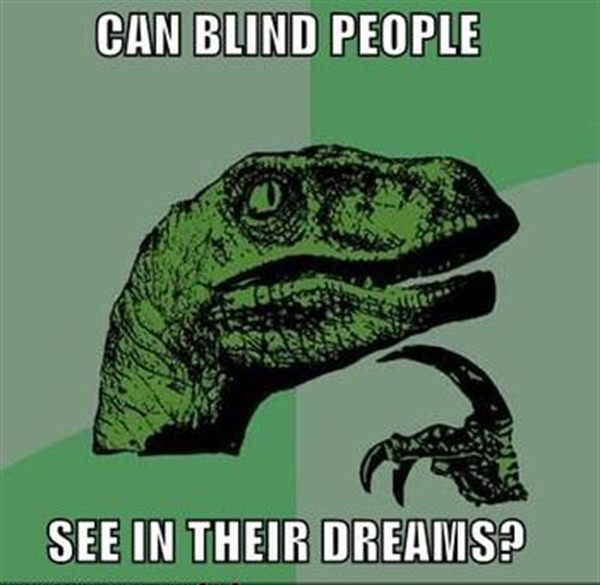 Blind people can see in their dream
