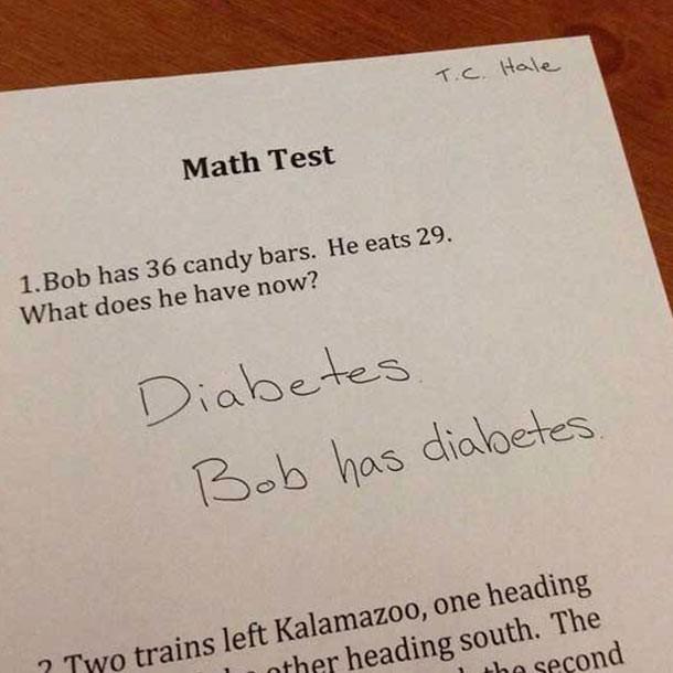 Bob now has diabetes