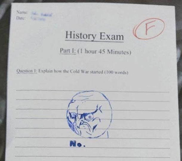 How to fail history exam