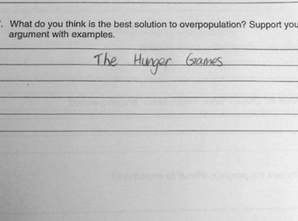 Hunger Game is the best solution to overpopulation