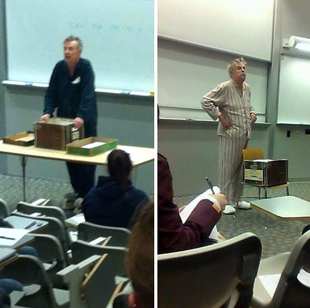 Teacher wearing pajamas to protest early final