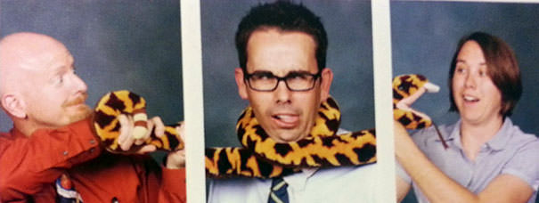 Teacher with awesome yearbook picture