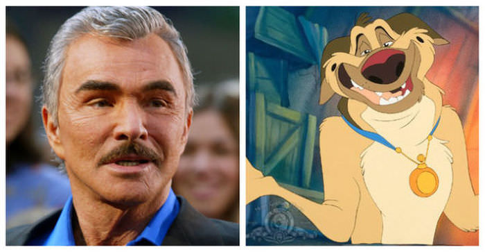 Burt Reynolds as Charlie B. Barkin in All Dogs Go To Heaven