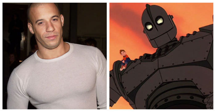 Vin Diesel as the Iron Giant