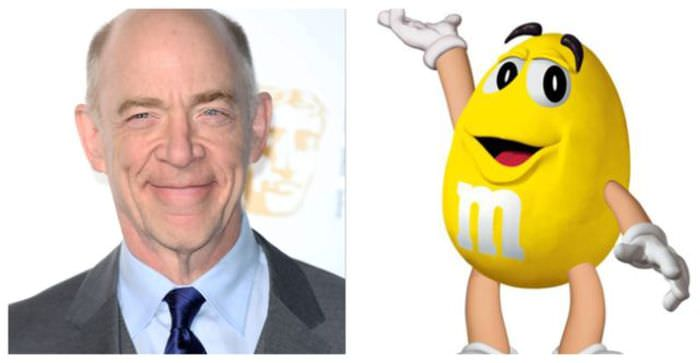 J.K. Simmons as the Yellow M&M!