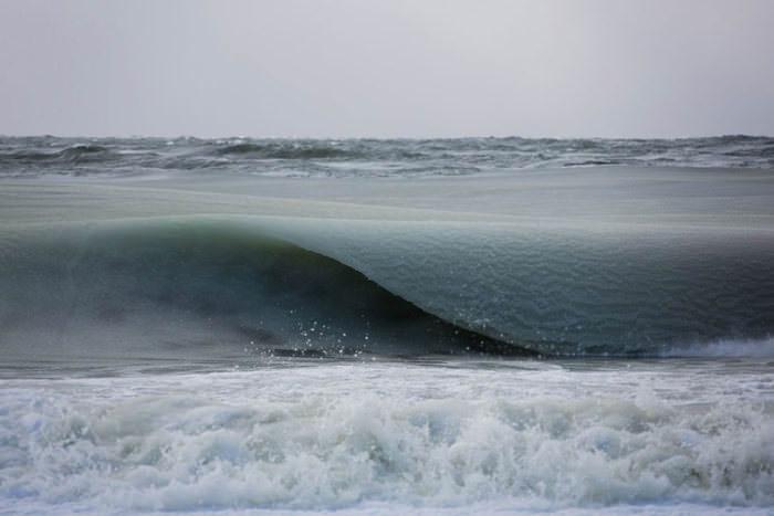 Amazing frozen waves by Jonathan Nimerfroh