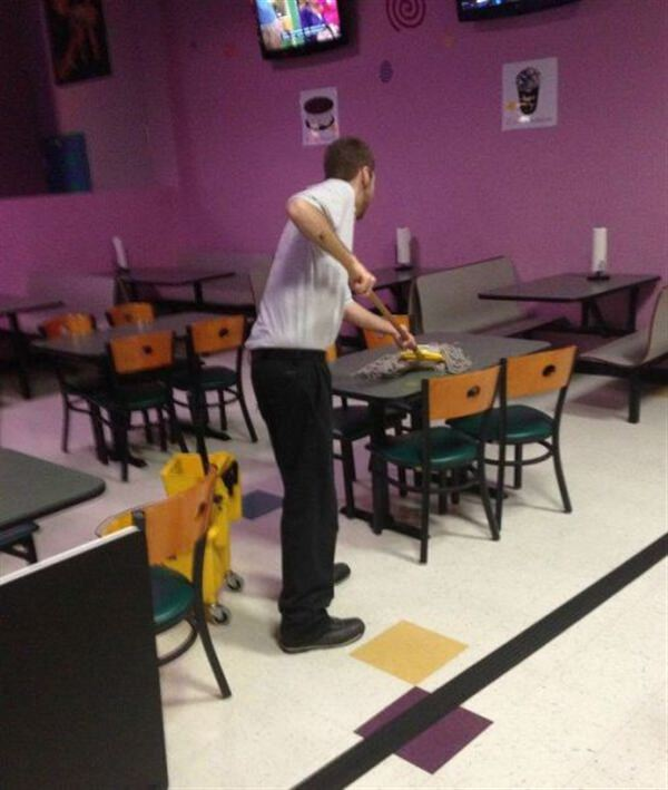 How to mop a table