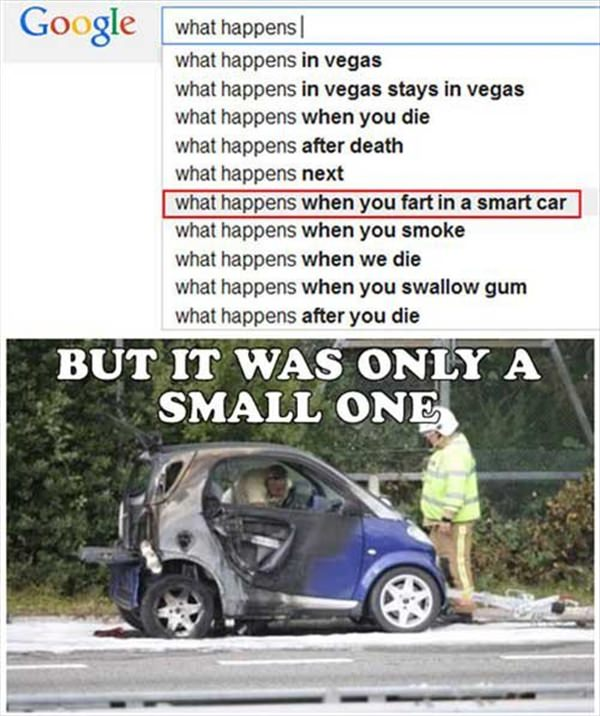 What happnes when you fart in a smart car
