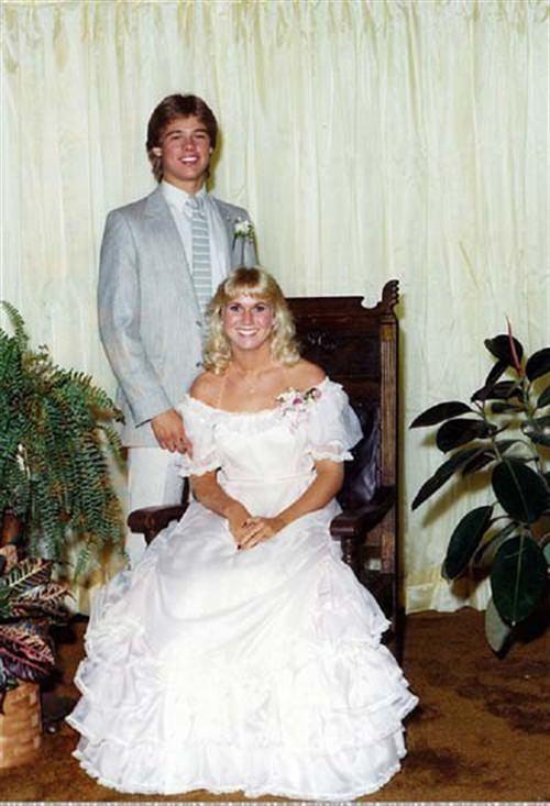 Brad Pitt prom picture