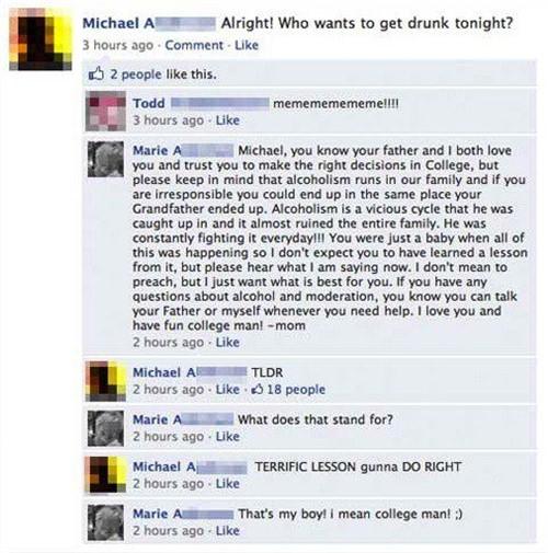 Lesson about alcoholism