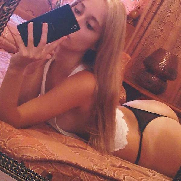 40 Hot Girls Taking Selfies On Bed