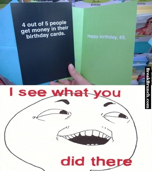 4 out of 5 get money in their birthday card