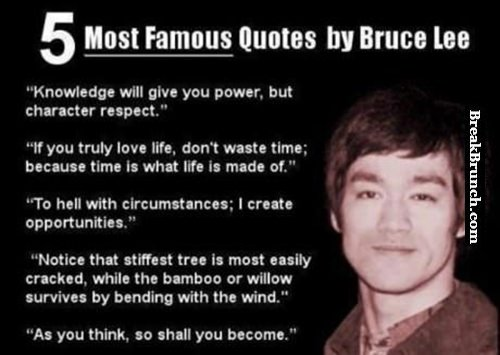 5 most famous quotes by Bruce Lee