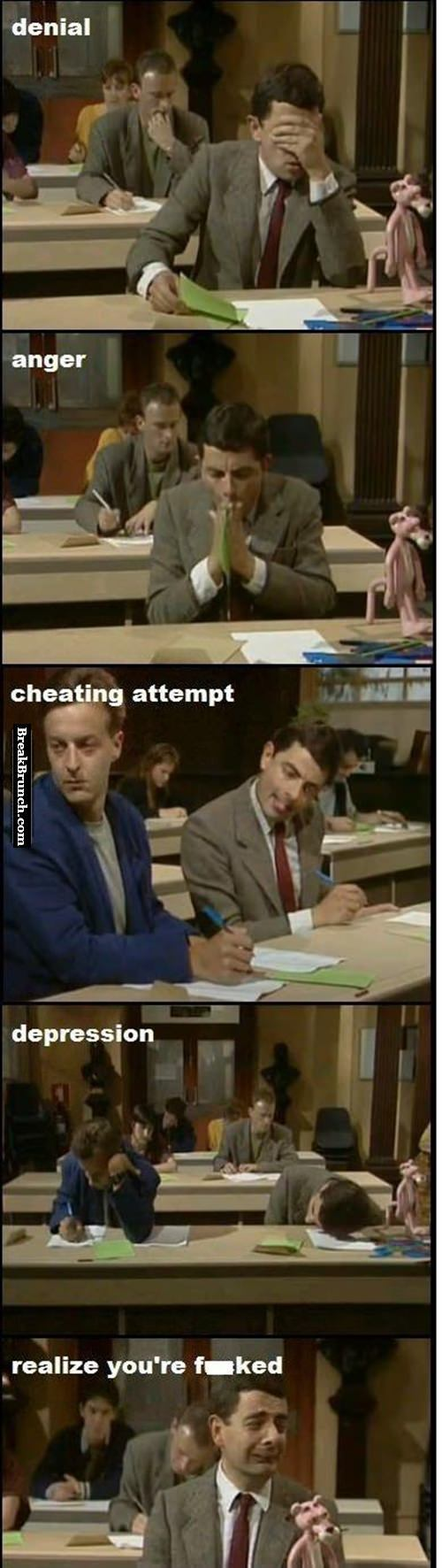 When you are taking the exam