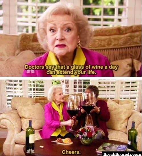 one glass of wine a day