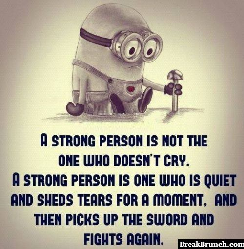 A strong person also cry