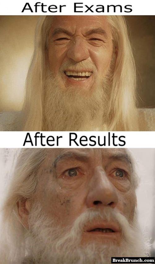 After exam vs after result