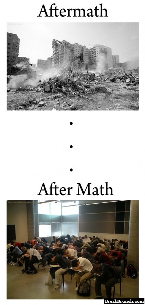 Aftermath vs after math