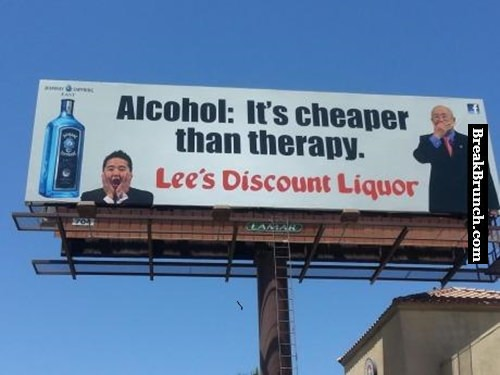 Alcohol is cheaper than therapy
