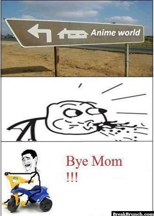I am going to anime world