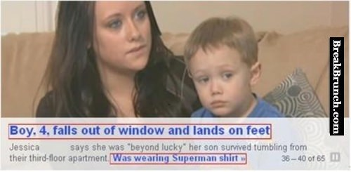 Maybe this kid has superpower