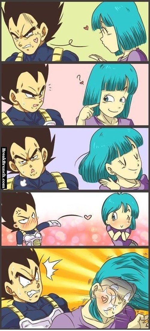 Vegeta blow kiss Bulma