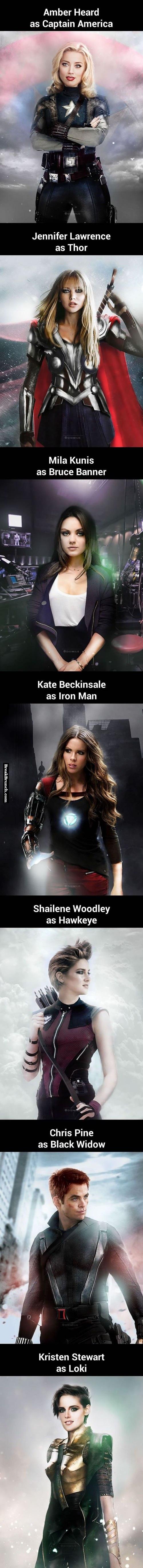 Celebrities as superheros