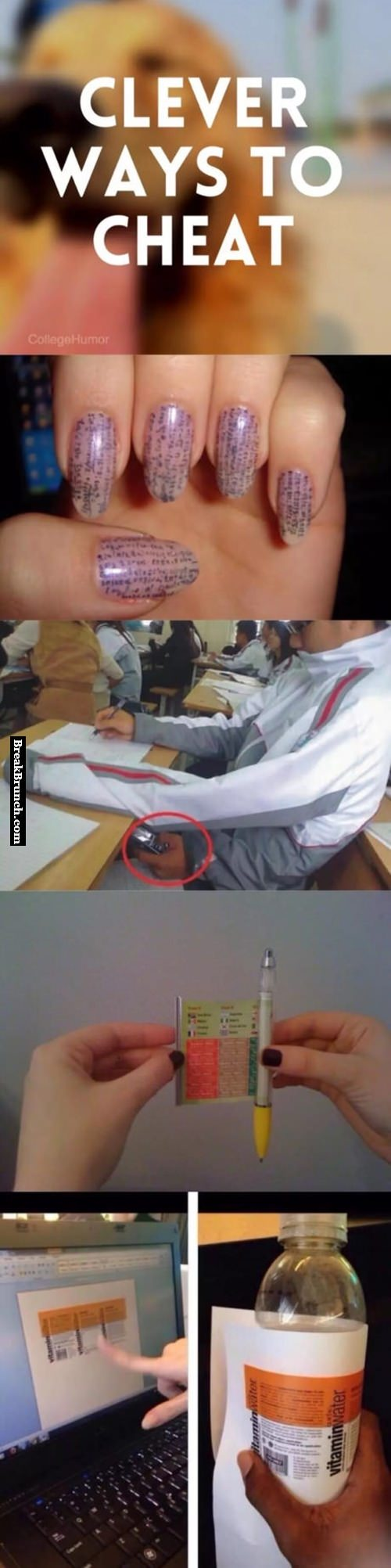 Smart ways to cheat on exams