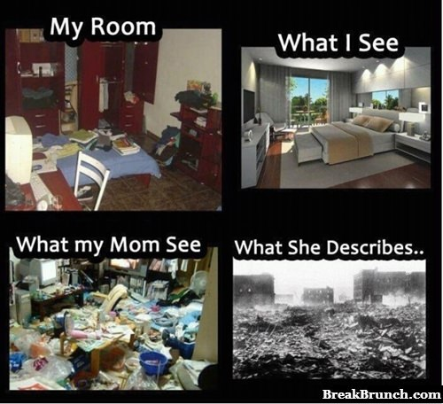 How my room looks like to different people