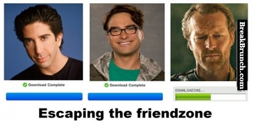 TV characters escaping the friendzone