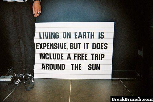 Free trip around the sun