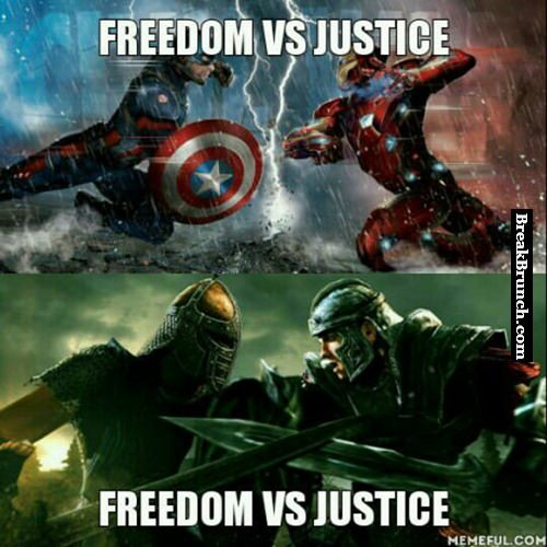 Freedom vs justice
