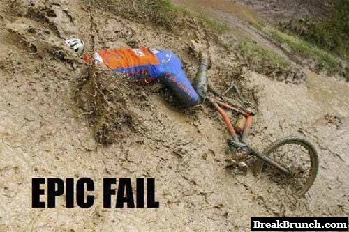 Epic bike fail