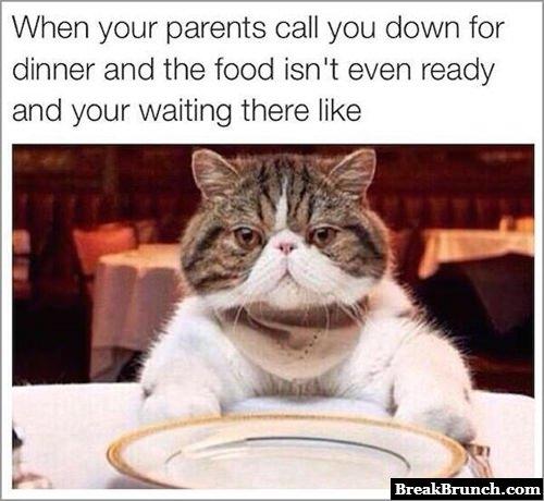 And you wait like an idioit