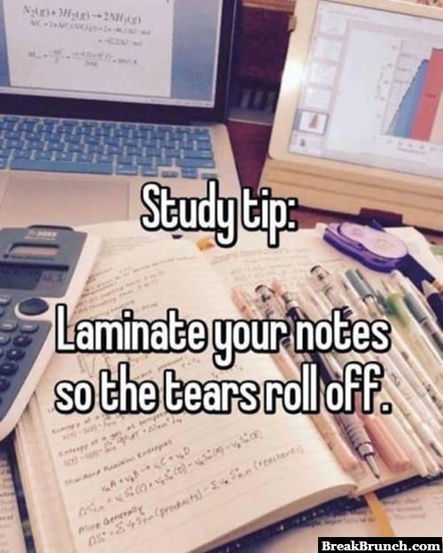 Study tip for all the students out there