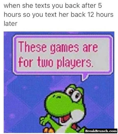 The texting game