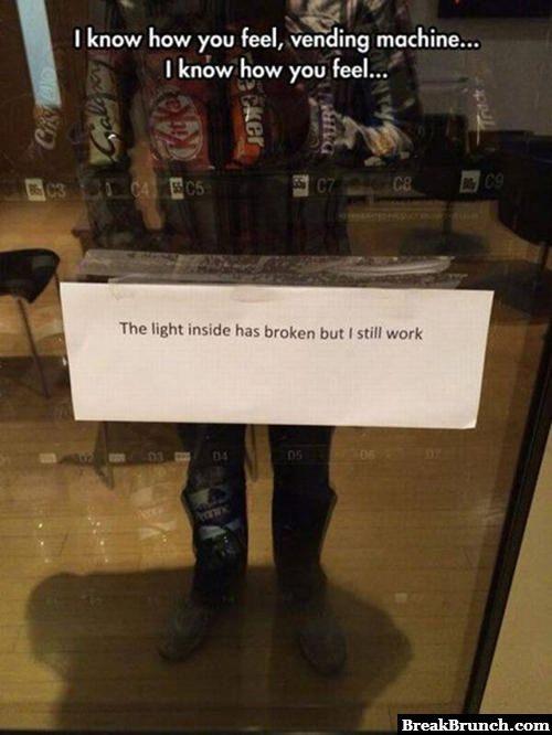 I feel you vending machine