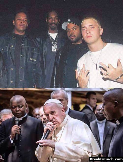 Eminem and Pope Francis