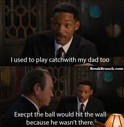 I used to play catch with my dad too
