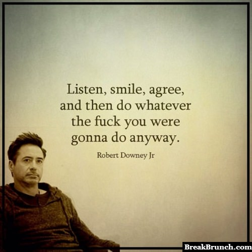 Wise words from Robert Downey Jr
