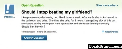 Should I stop beating my girlfriend