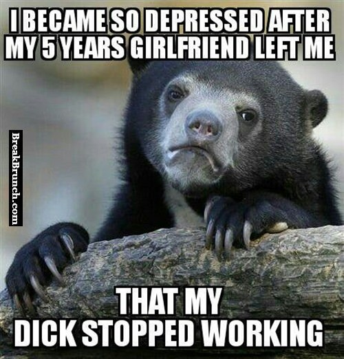 My dick stopped working because I am depressed