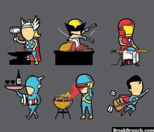 Superheros' summer jobs