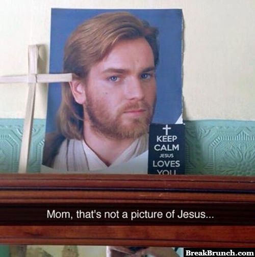 That is not a picture of Jesus
