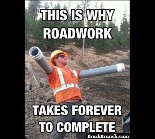 Why roadworks take forever