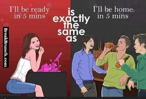 What 5 minutes means for guys and girls