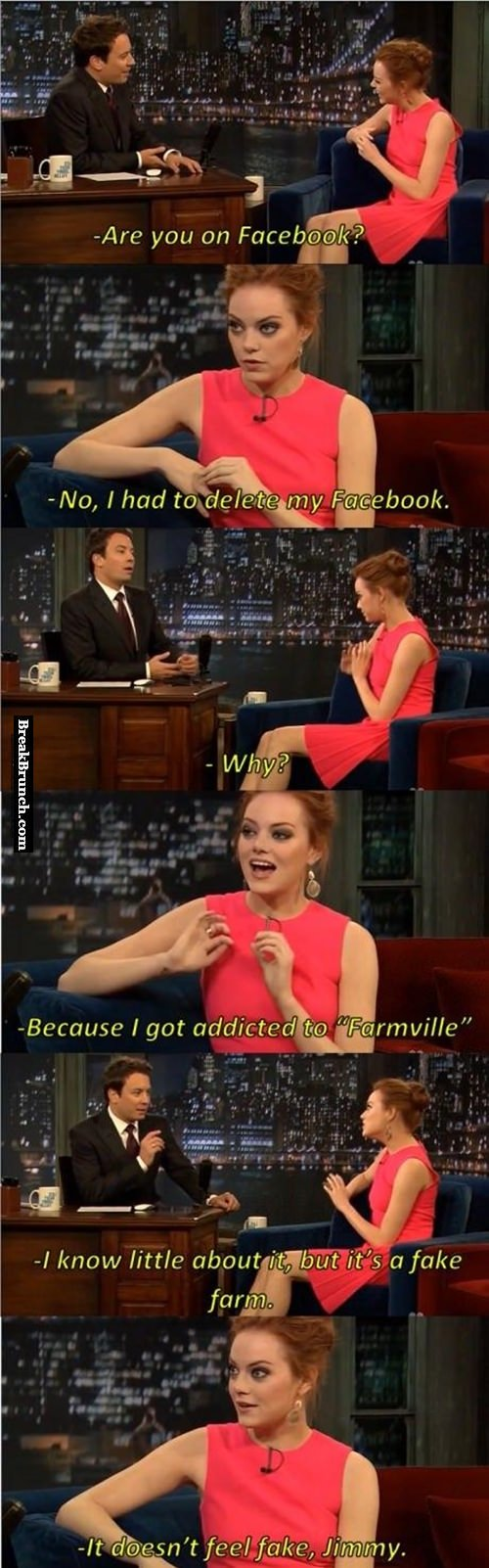 Why Emma Stone quit Facebook