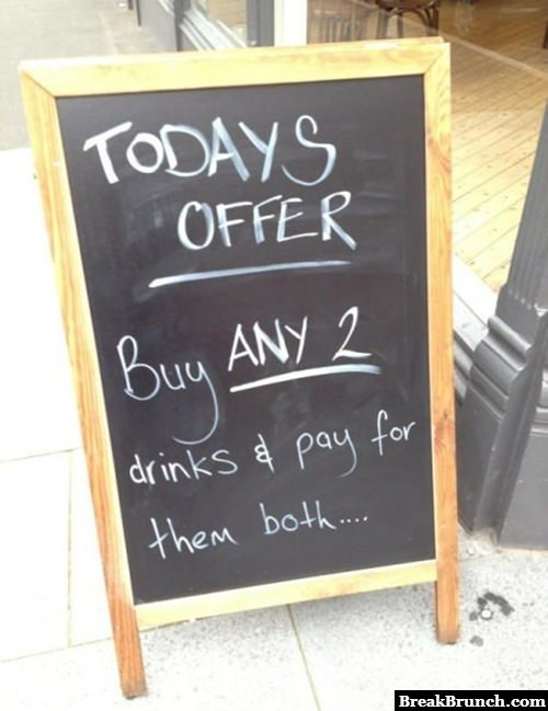 Funny bar sign