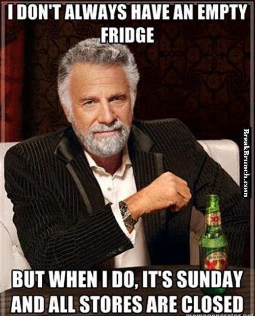 I don't always have an empty fridge